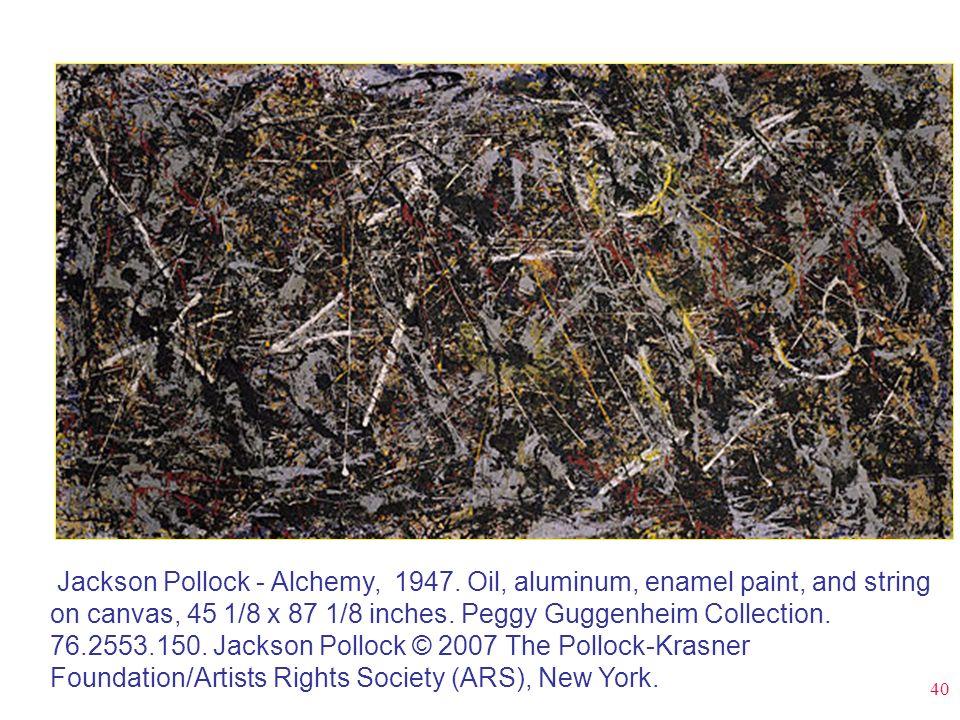 Jackson Pollock - Alchemy, 1947
