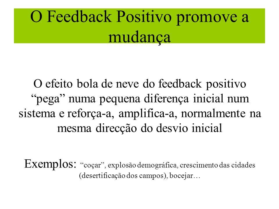 O Feedback Positivo promove a mudança