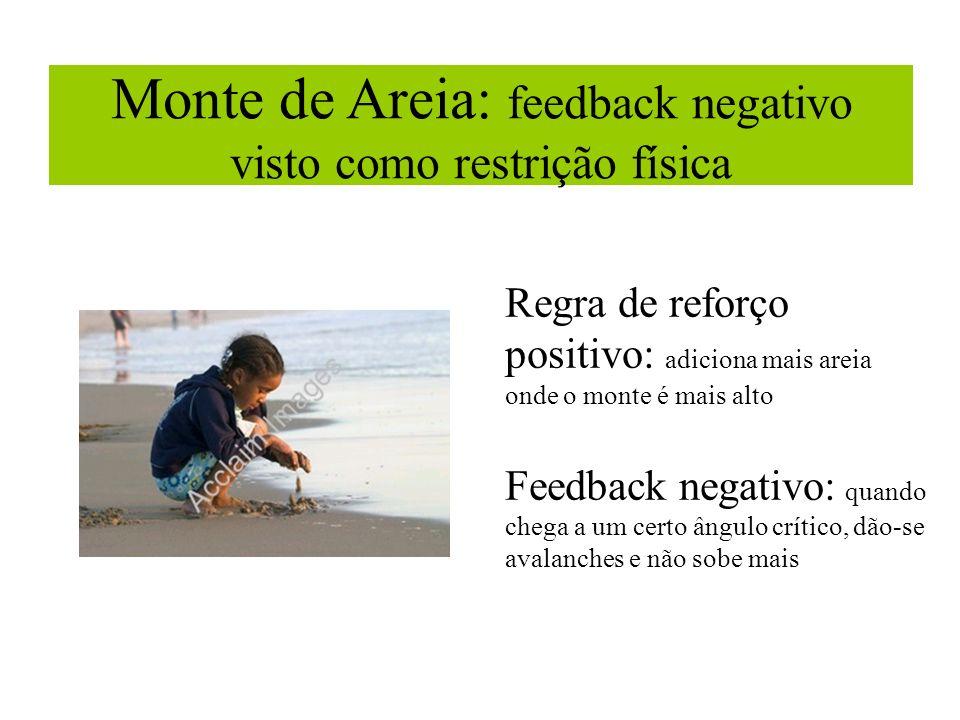 Monte de Areia: feedback negativo visto como restrição física