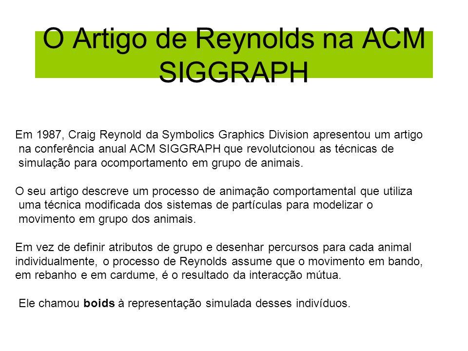 O Artigo de Reynolds na ACM SIGGRAPH