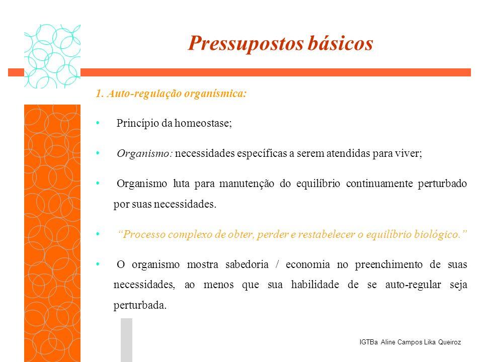 Pressupostos básicos 1. Auto-regulação organísmica: