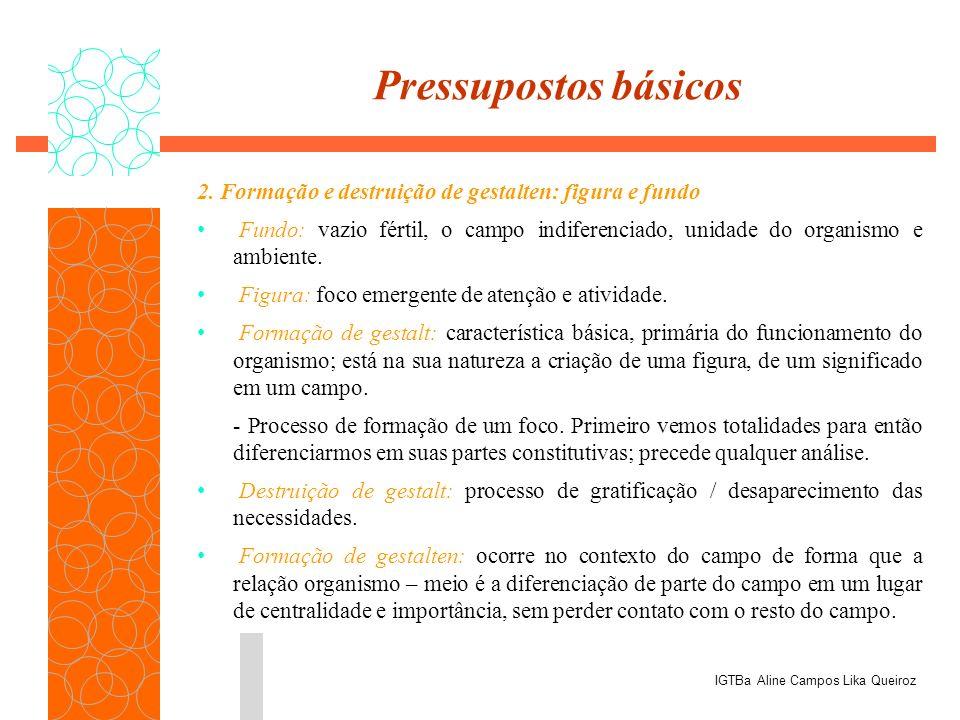 Pressupostos básicos 2. Formação e destruição de gestalten: figura e fundo.