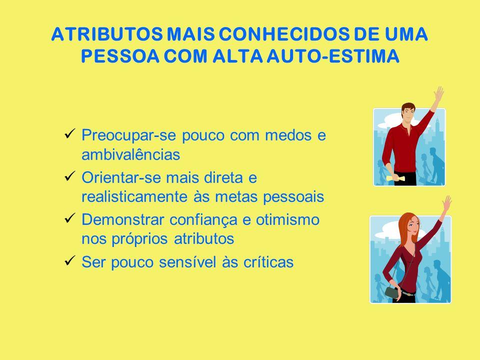 ATRIBUTOS MAIS CONHECIDOS DE UMA PESSOA COM ALTA AUTO-ESTIMA