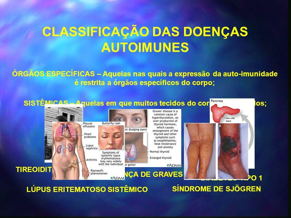 CLASSIFICAÇÃO DAS DOENÇAS AUTOIMUNES