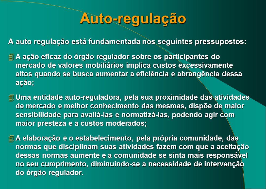 Auto-regulação A auto regulação está fundamentada nos seguintes pressupostos: