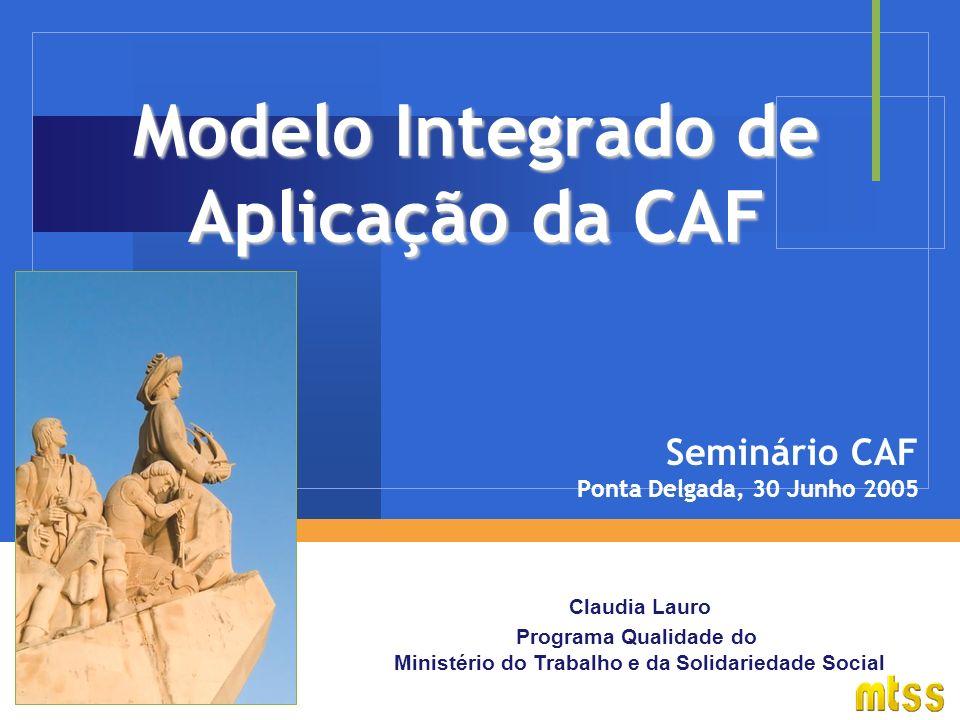 Modelo Integrado de Aplicação da CAF