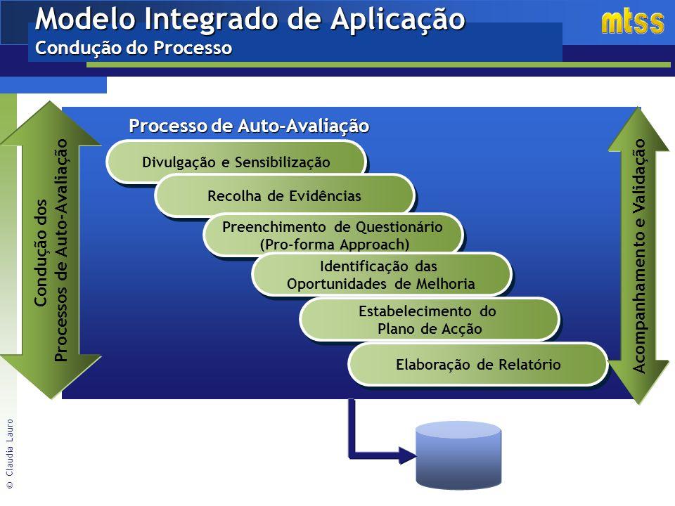 Modelo Integrado de Aplicação Condução do Processo