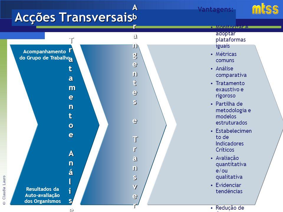 Acções Transversais Acções Abrangentes Tratamento e Transversais
