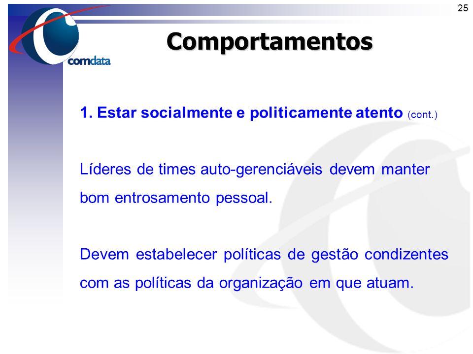 Comportamentos 1. Estar socialmente e politicamente atento (cont.)