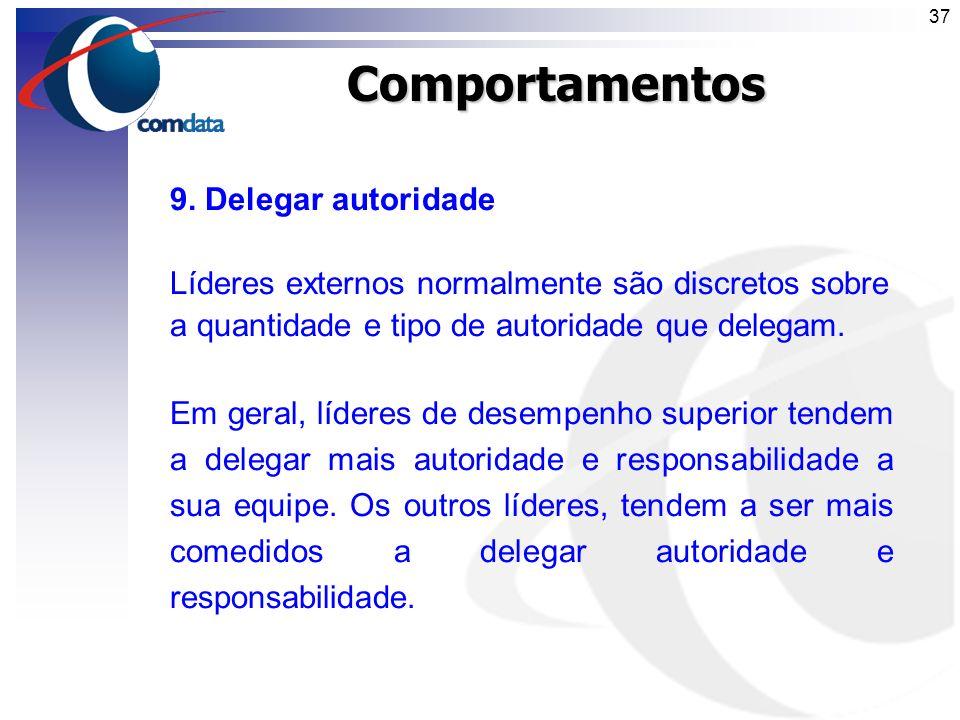 Comportamentos 9. Delegar autoridade