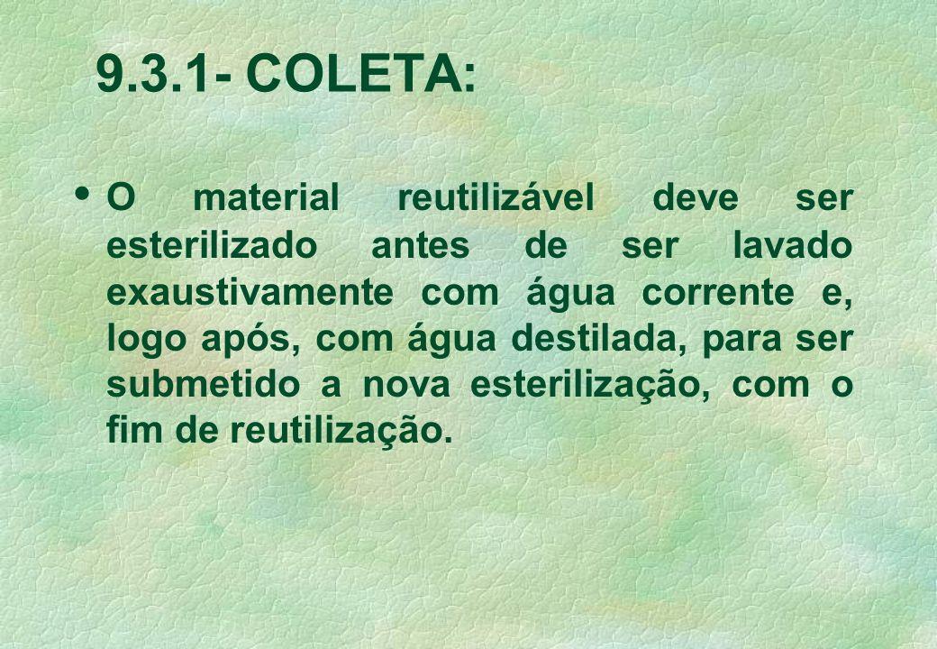 9.3.1- COLETA: