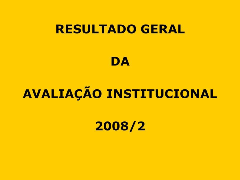 RESULTADO GERAL DA AVALIAÇÃO INSTITUCIONAL 2008/2