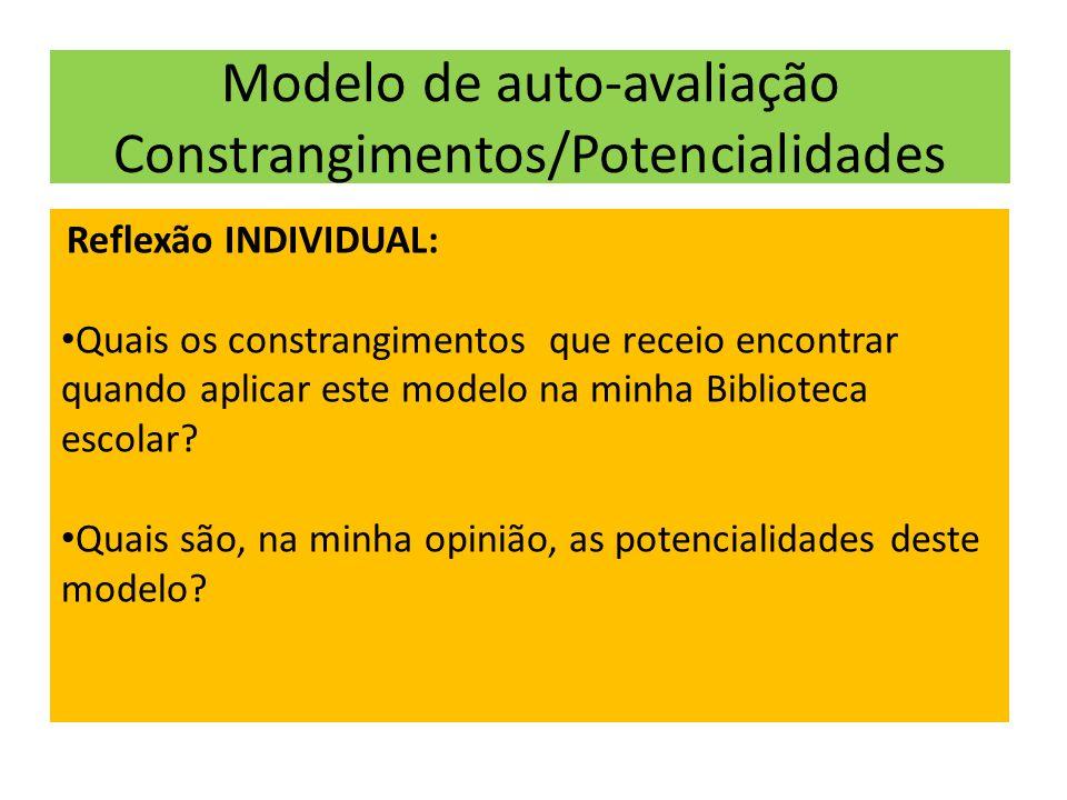 Modelo de auto-avaliação Constrangimentos/Potencialidades