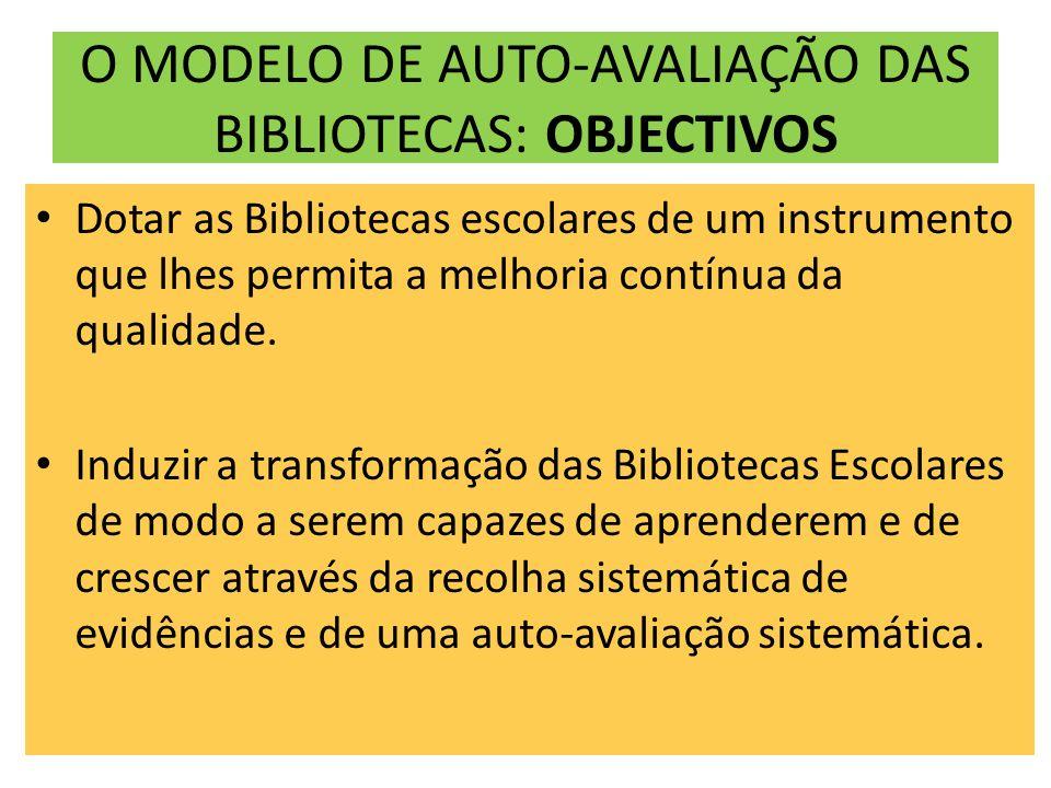 O MODELO DE AUTO-AVALIAÇÃO DAS BIBLIOTECAS: OBJECTIVOS
