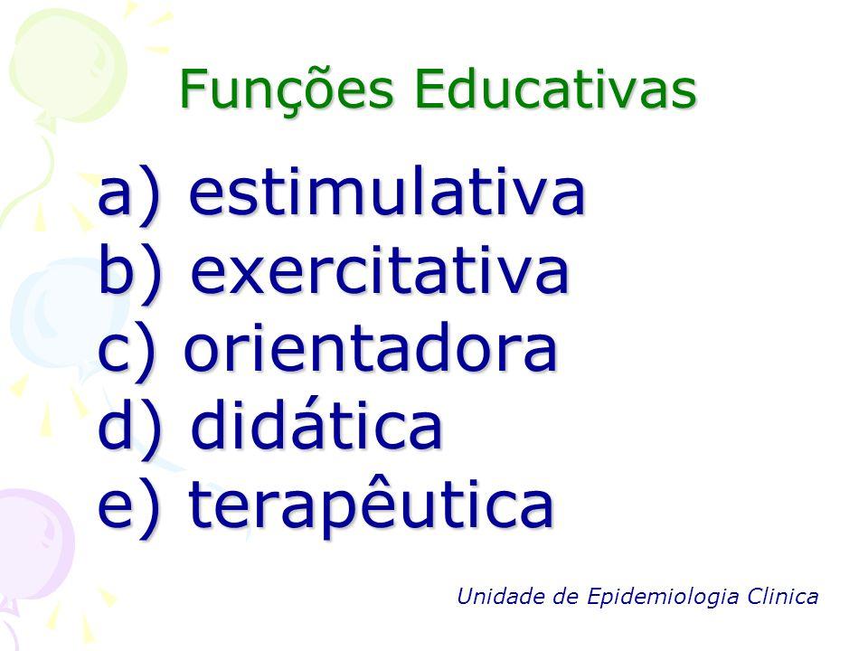 a) estimulativa b) exercitativa c) orientadora d) didática