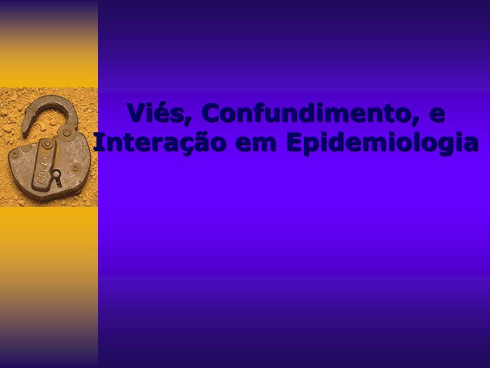 Viés, Confundimento, e Interação em Epidemiologia