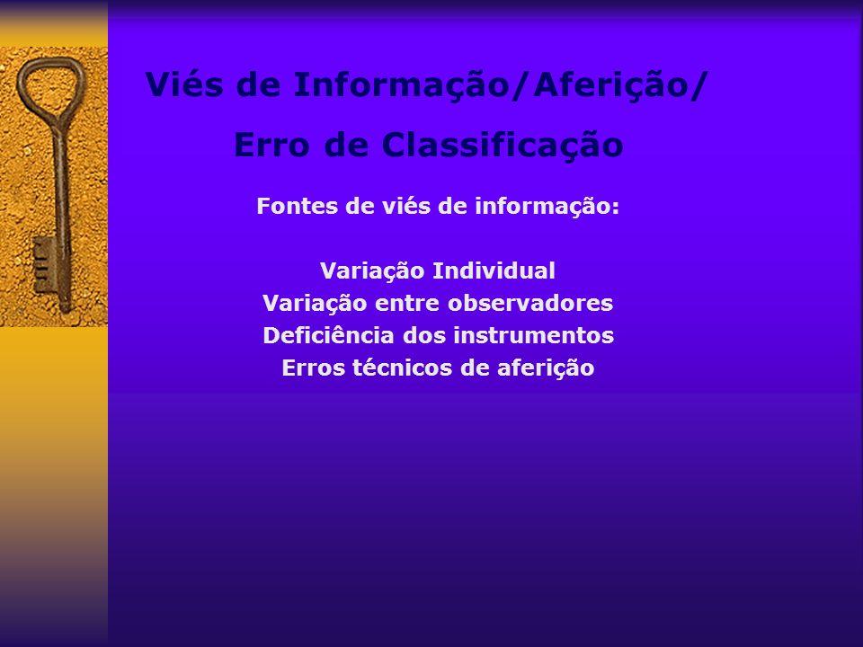 Viés de Informação/Aferição/ Erro de Classificação