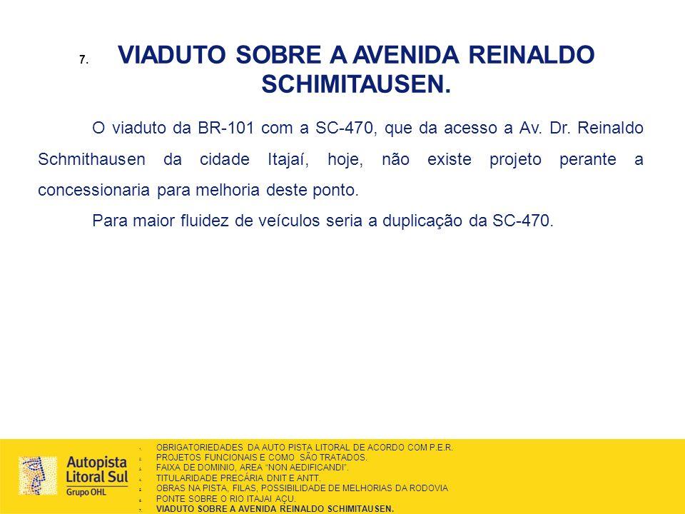 VIADUTO SOBRE A AVENIDA REINALDO SCHIMITAUSEN.