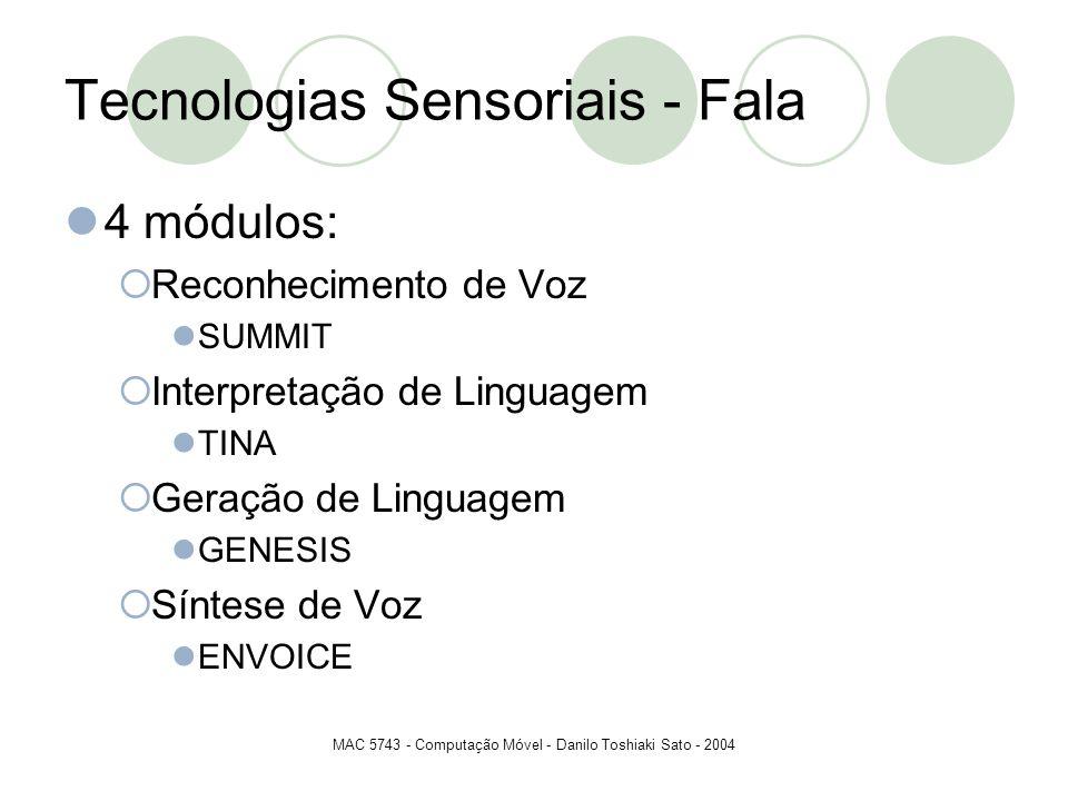 Tecnologias Sensoriais - Fala