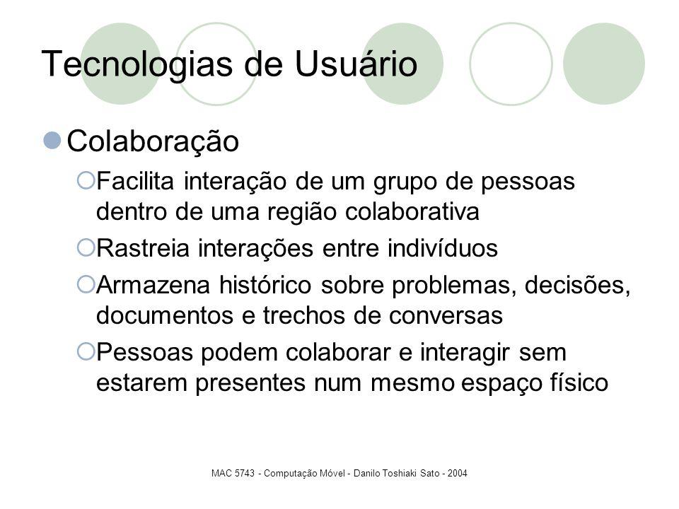 Tecnologias de Usuário