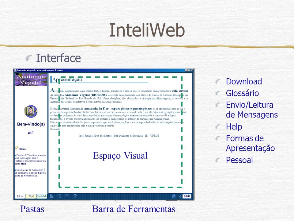 InteliWeb Interface Espaço Visual Pastas Barra de Ferramentas Download