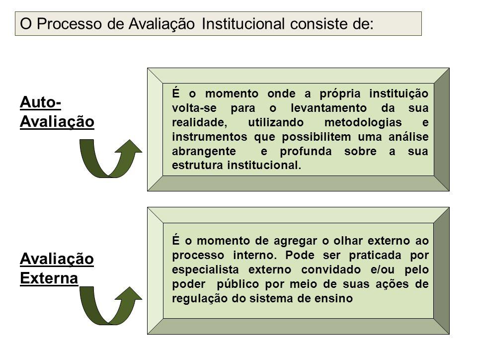 O Processo de Avaliação Institucional consiste de: