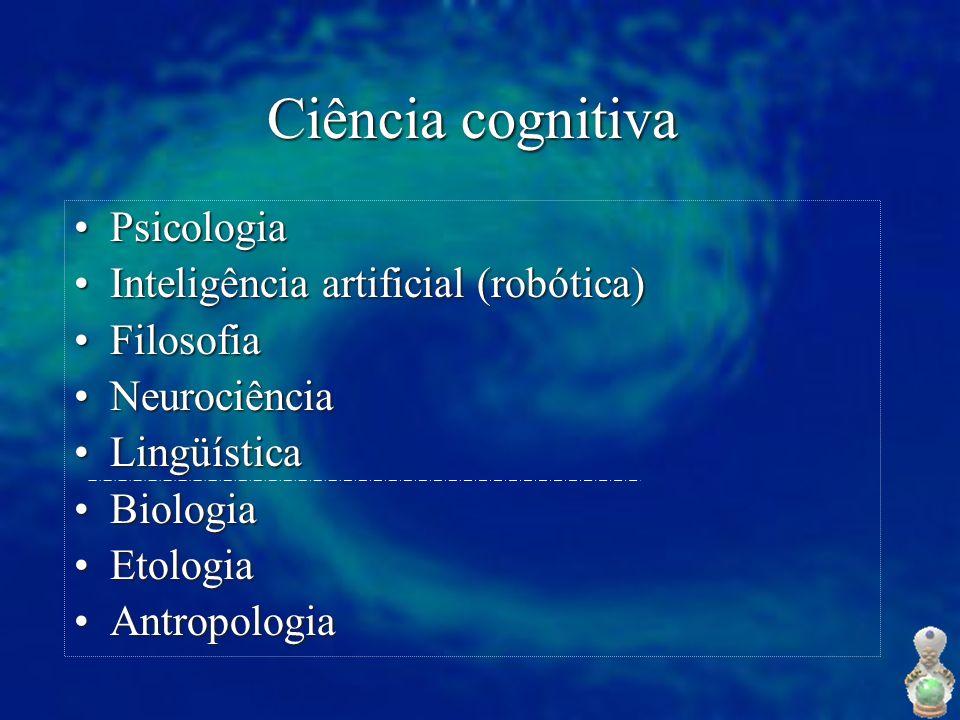 Ciência cognitiva Psicologia Inteligência artificial (robótica)