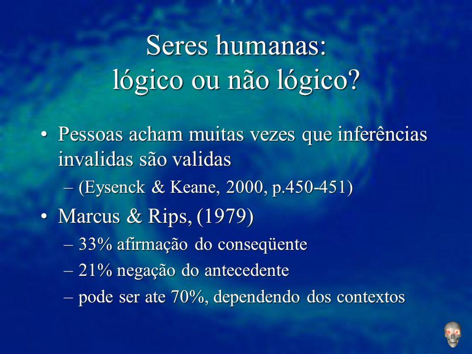 Seres humanas: lógico ou não lógico