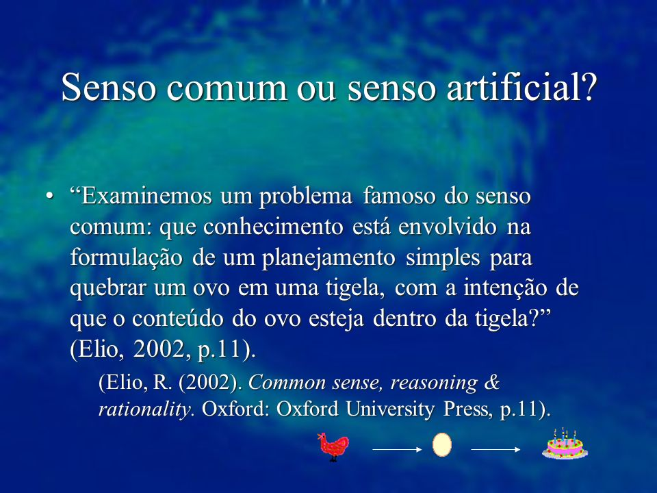 Senso comum ou senso artificial