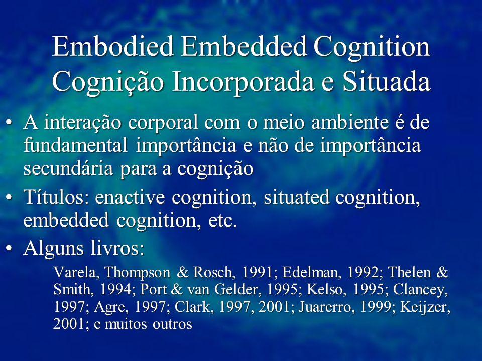 Embodied Embedded Cognition Cognição Incorporada e Situada