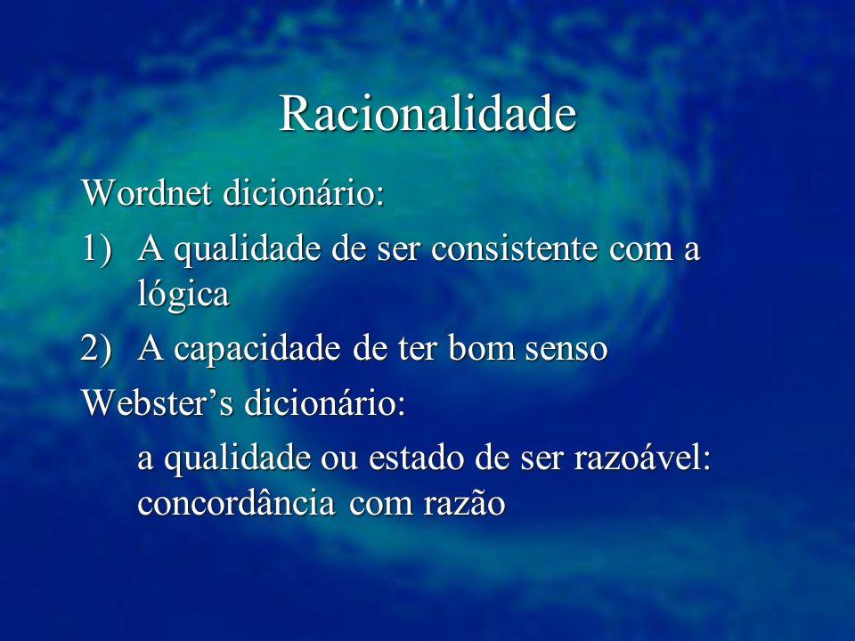Racionalidade Wordnet dicionário: