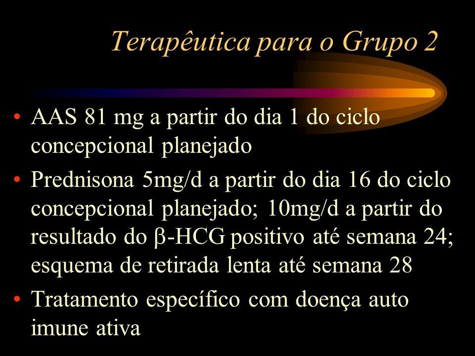 Terapêutica para o Grupo 2