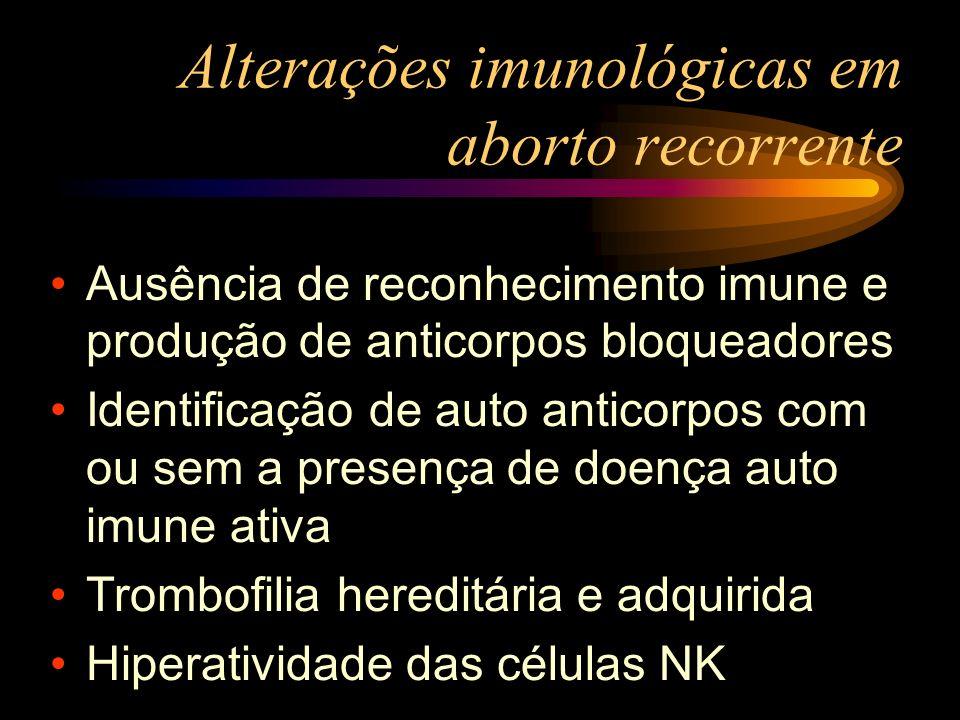 Alterações imunológicas em aborto recorrente