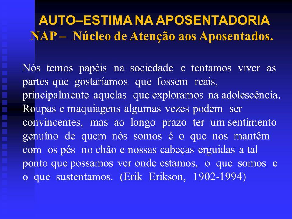 AUTO–ESTIMA NA APOSENTADORIA NAP – Núcleo de Atenção aos Aposentados.