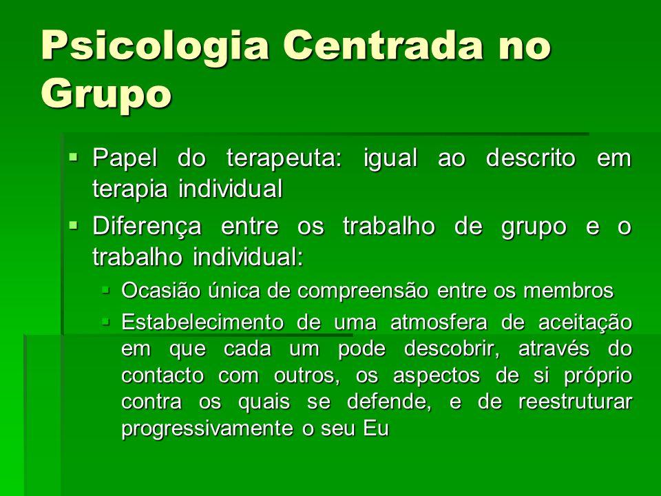 Psicologia Centrada no Grupo