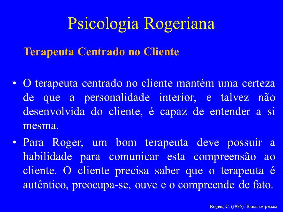 Terapeuta Centrado no Cliente