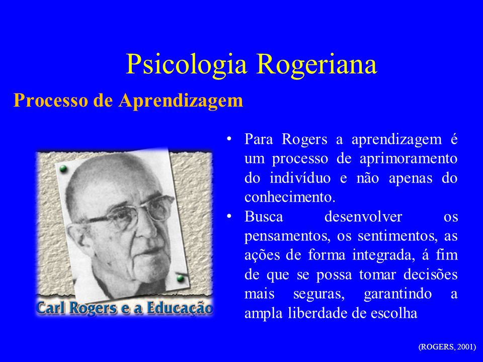Psicologia Rogeriana Processo de Aprendizagem