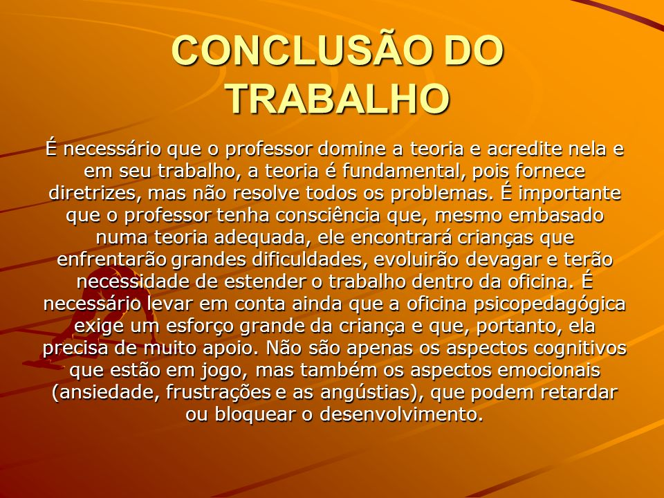 CONCLUSÃO DO TRABALHO