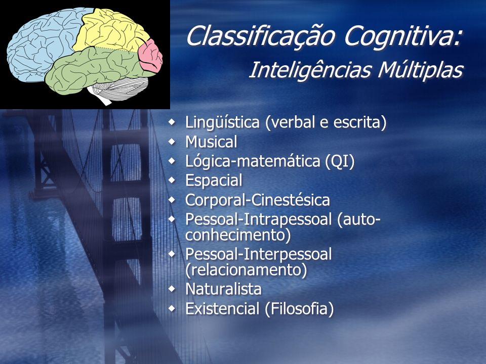 Classificação Cognitiva: Inteligências Múltiplas