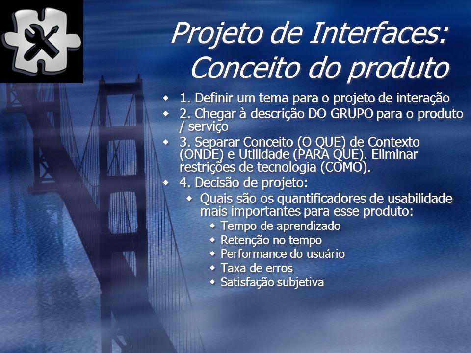 Projeto de Interfaces: Conceito do produto