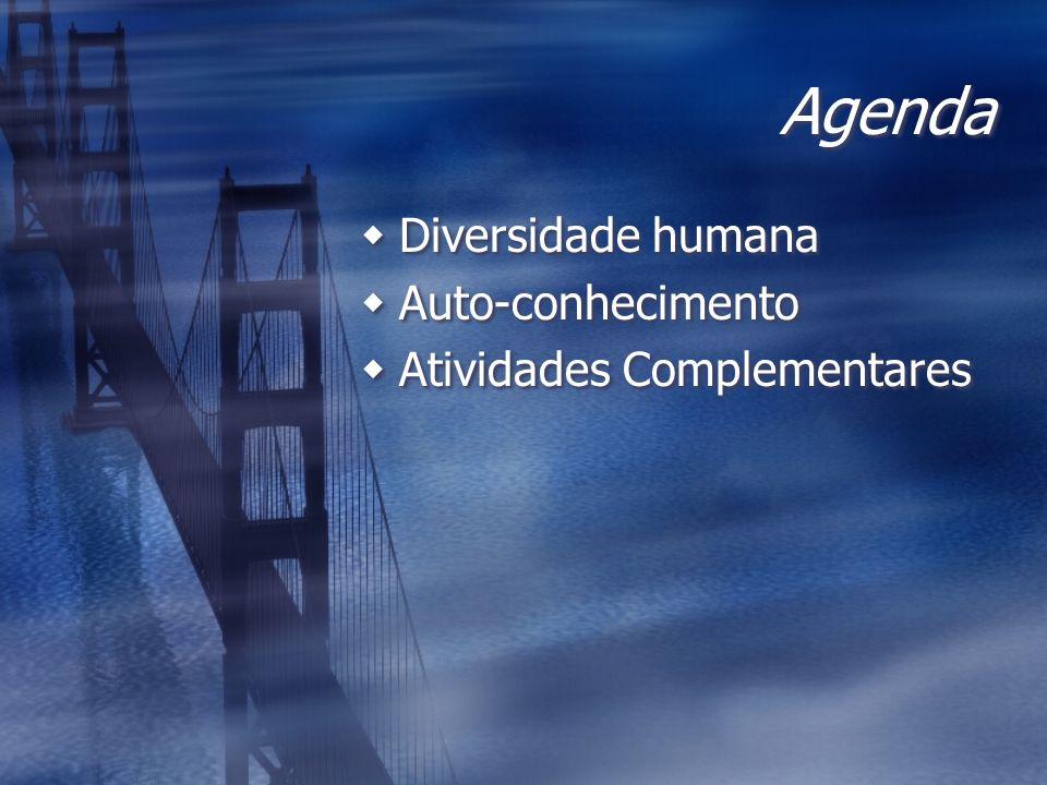 Agenda Diversidade humana Auto-conhecimento Atividades Complementares