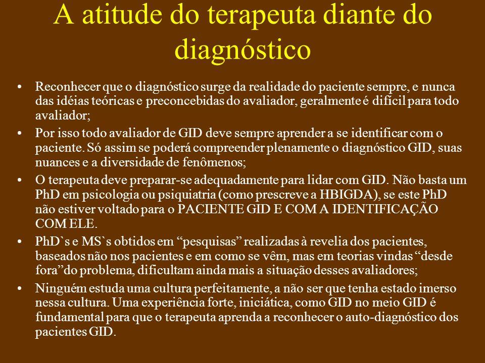A atitude do terapeuta diante do diagnóstico