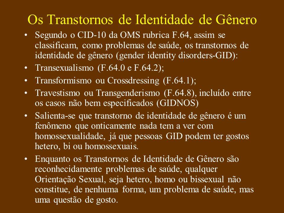 Os Transtornos de Identidade de Gênero