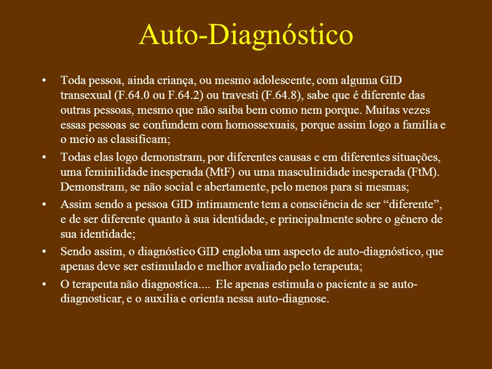 Auto-Diagnóstico