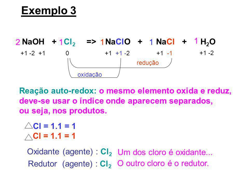 NaOH + Cl2 => NaClO + NaCl + H2O