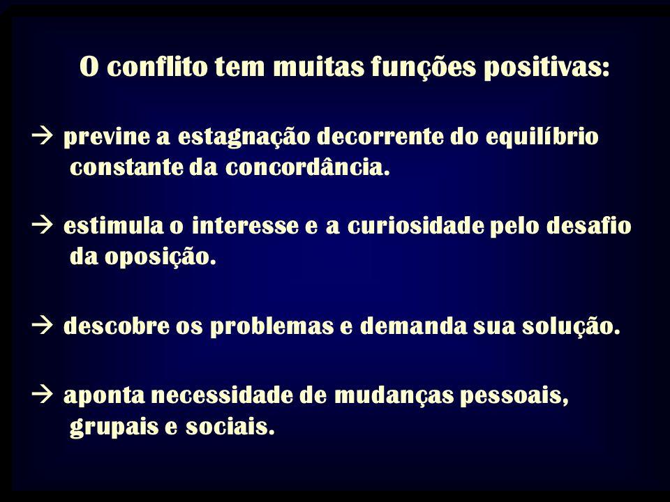 O conflito tem muitas funções positivas: