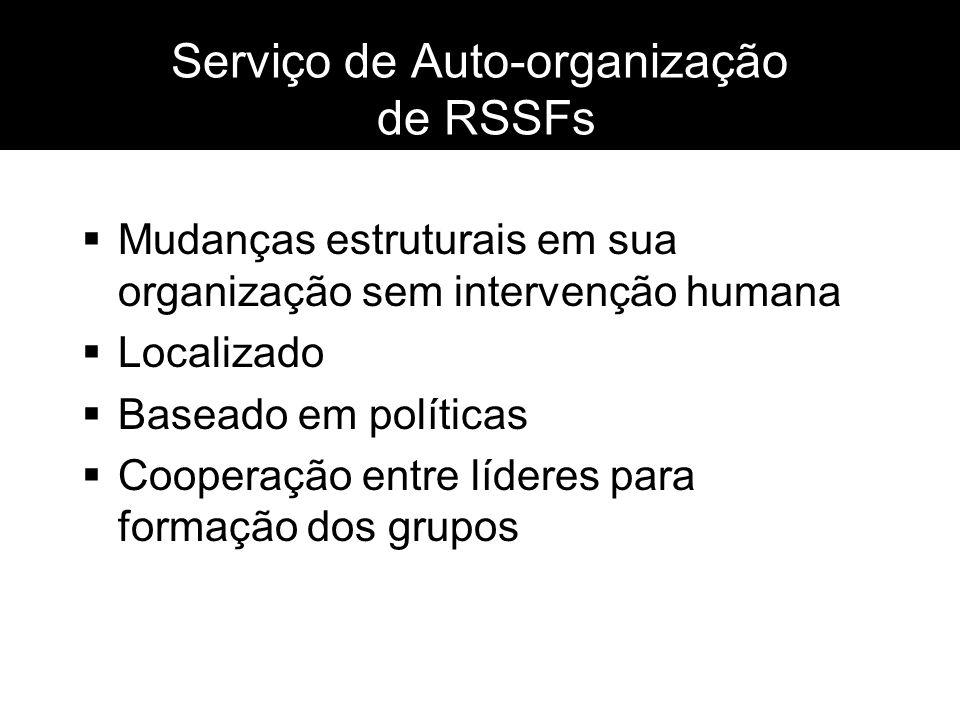 Serviço de Auto-organização de RSSFs