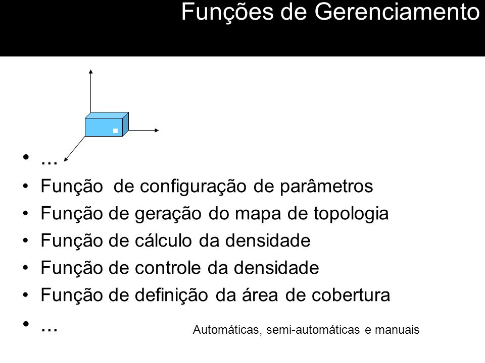 Funções de Gerenciamento