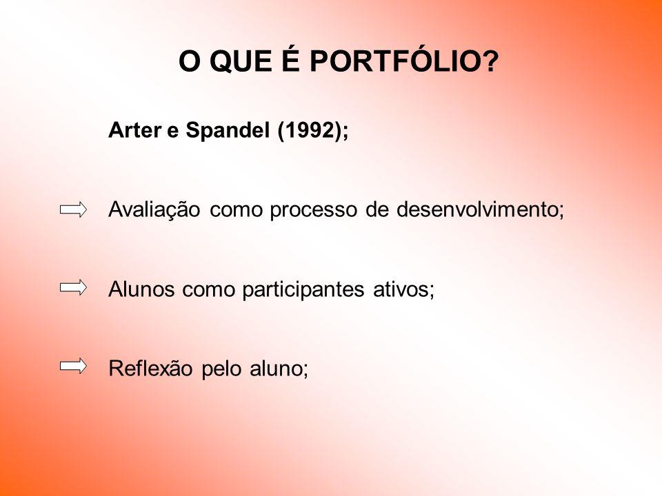 O QUE É PORTFÓLIO Arter e Spandel (1992);