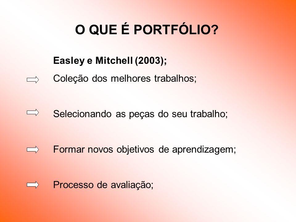 O QUE É PORTFÓLIO Easley e Mitchell (2003);